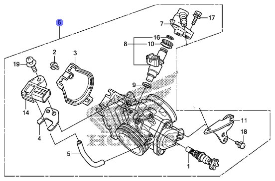 Honda Oem Throttle Body Assembly 2009 2010 Crf450r 09 10 Crf 450r