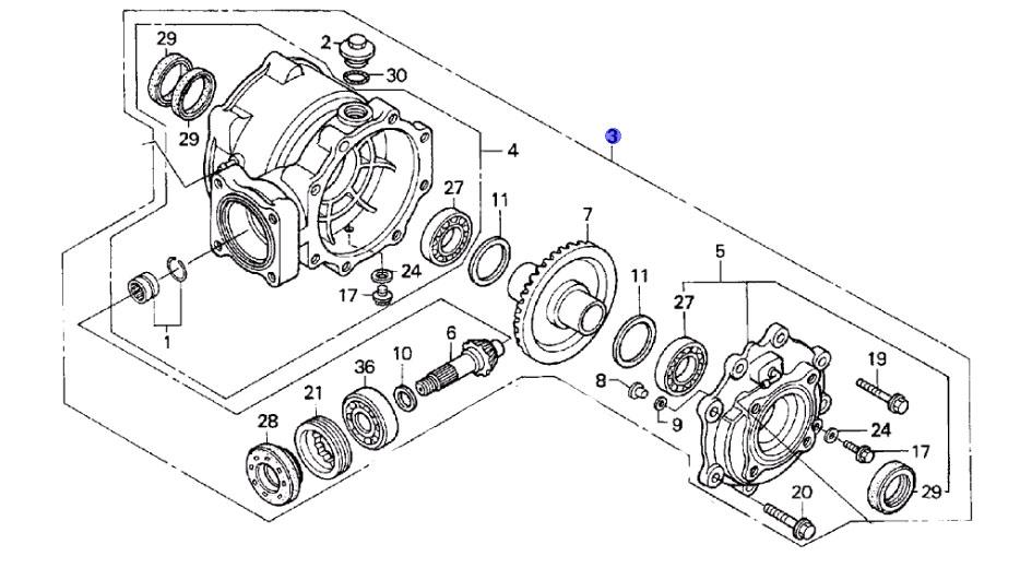 29 Honda Recon Rear Axle Diagram