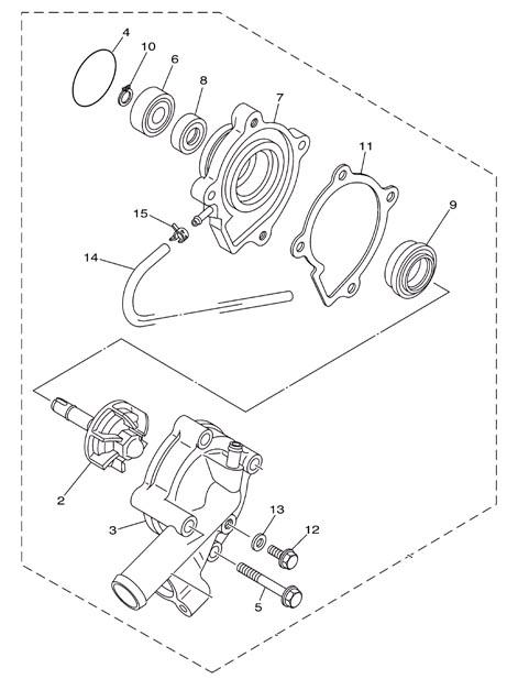 Yamaha Water Pump 2004 2005 04 05 Yxr660f 2006 2007 06 07 Yxr66f