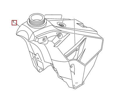 Yamaha Oem Fuel Tank 2001 Yz250 01 Yz 250 5mw 24110 01 00
