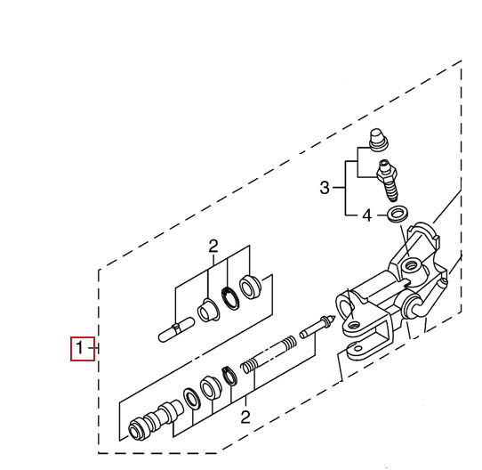 Yamaha Master Cylinder Sub Assy 05 16 Yzf R6 07 08 Yzf R1 5sl W2587