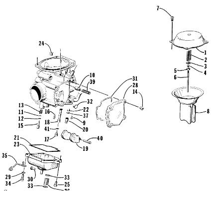 sportsman 500 rear axle diagram � source  2000 arctic cat 300 4x4 carburetor