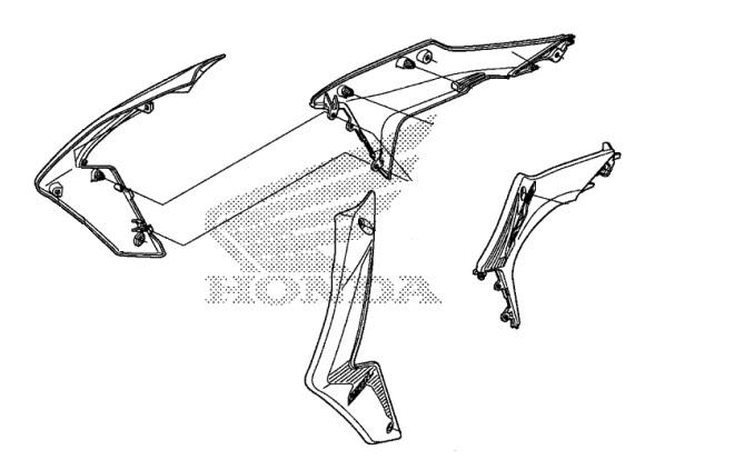 Honda Oem Radiator Shroud Set 13 14 Crf250l 19070 Kzz 900zd 19075
