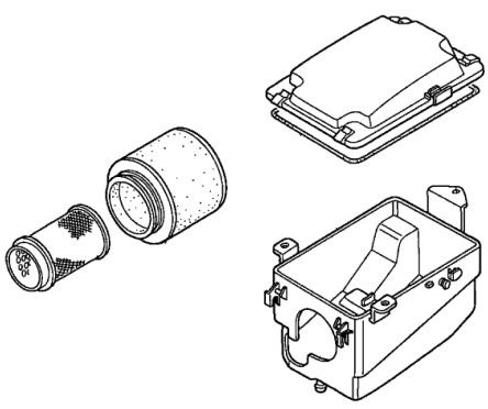 Honda Oem Airbox And Filter Kit Trx400ex Trx400x 17211 Hn1 000 17254