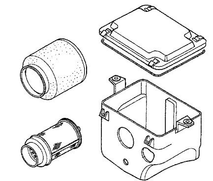 Honda Airbox And Filter Kit 98 01 Trx400fw 450es S 17211 Hm7 000