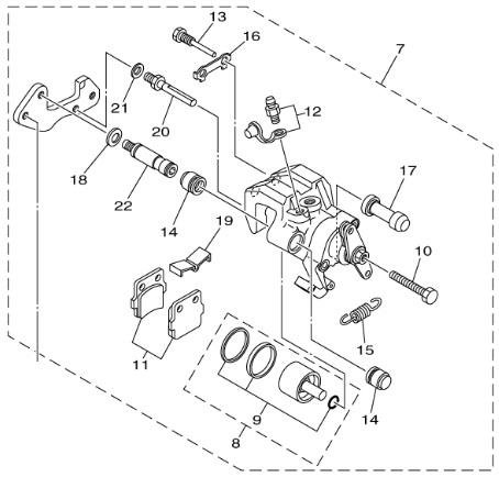 Yamaha Oem Rear Brake Caliper 0813 Raptor 250 1113 125 5yt. Yamaha Oem Rear Brake Caliper 0813 Raptor 250 1113 125 5yt2580w1000. Yamaha. Yamaha Raptor 350 Transmission Diagram At Scoala.co