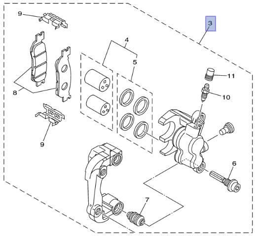 Yamaha Oem Front Left Brake Caliper Assembly 13 17 Tw200 Tw 200 5lb