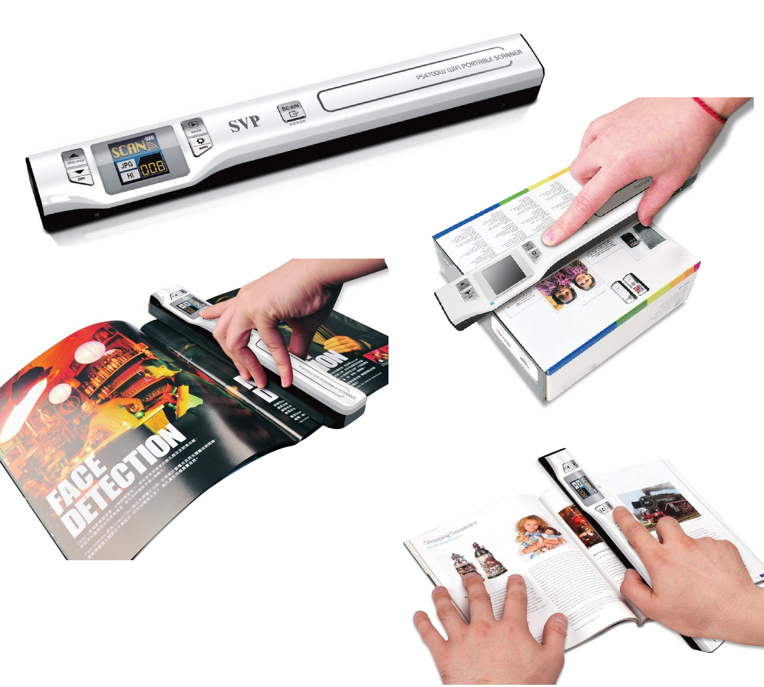 A PORTABLE SCANNER LET YOU EASILY SCAN YOUR DOCUMENTS PHOTOTS MAGAZINE AND NEWSPAPER ARTICLE LETTERS FABRIC PATTERNS INTO DIGITAL PICTURES SAVED ON