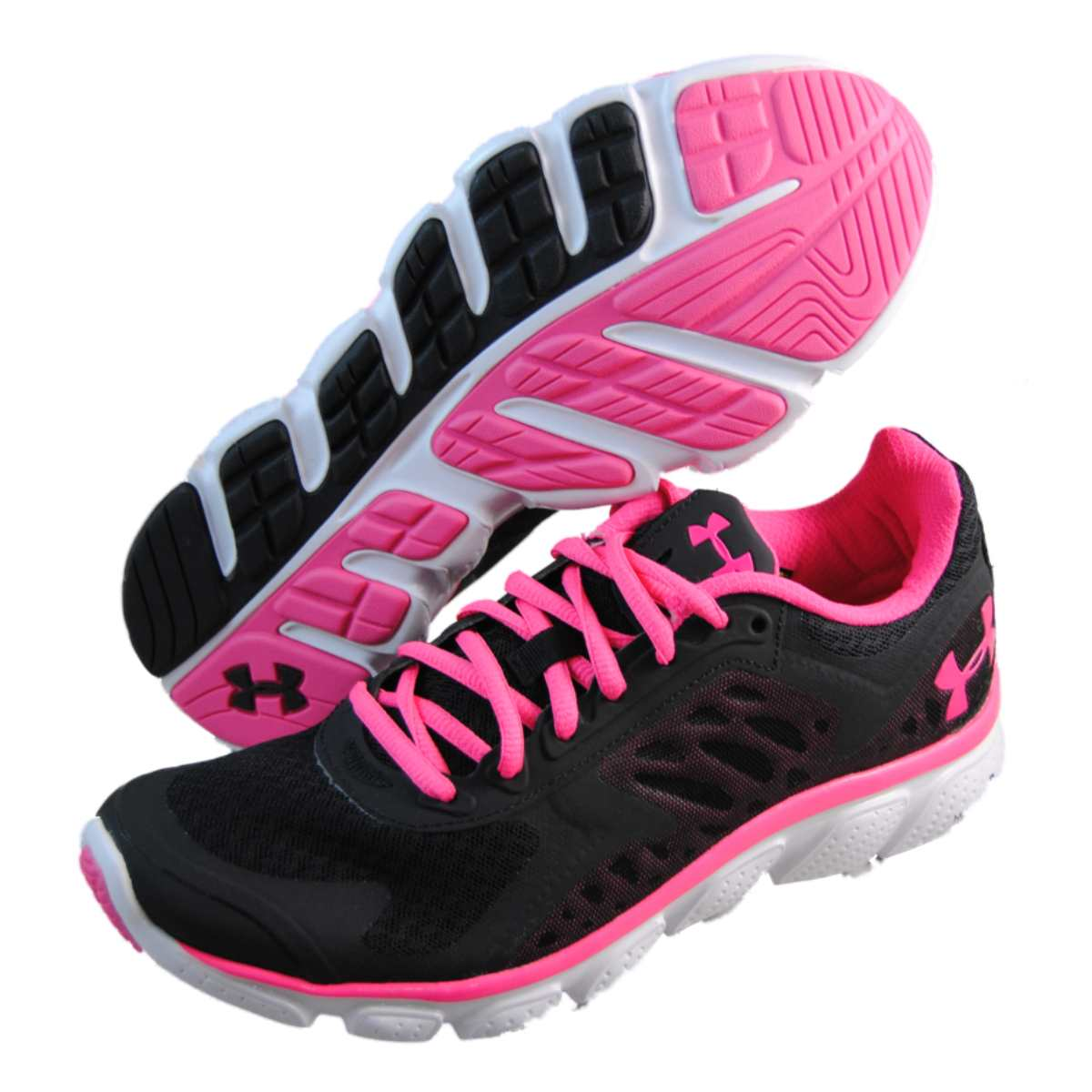Buy Cheap Under Armour Pink Shoes All Black Kobe Shoes