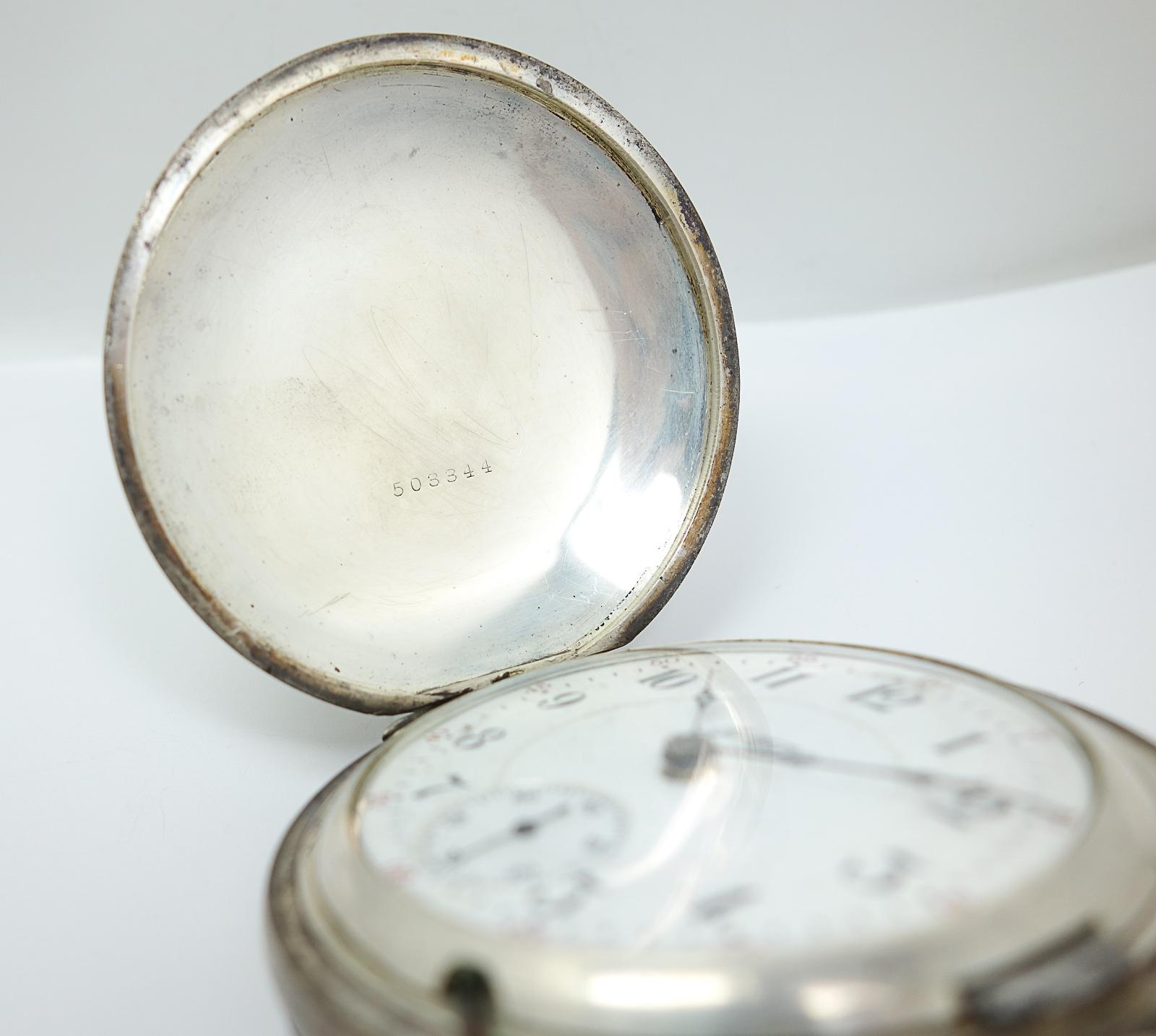 Antique C1900 John M Smyth Co Sterling Silver Hunter Case Pocket Watch Rockford Ebay