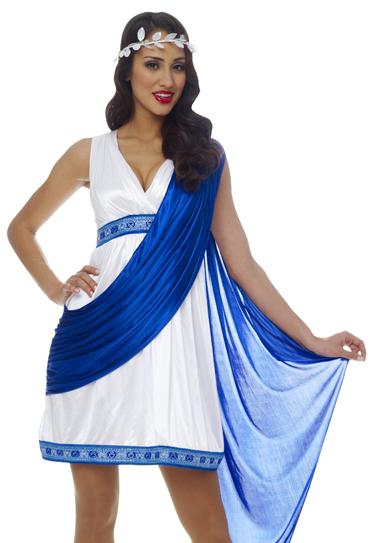 Sexy Roman Empress Toga Greek Goddess Fancy Dress Halloween Costume