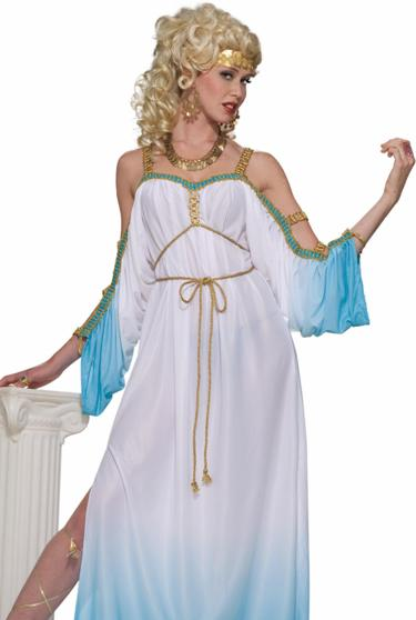 Womens Greek Goddess Adult Grecian Hera Costume Outfit | eBay