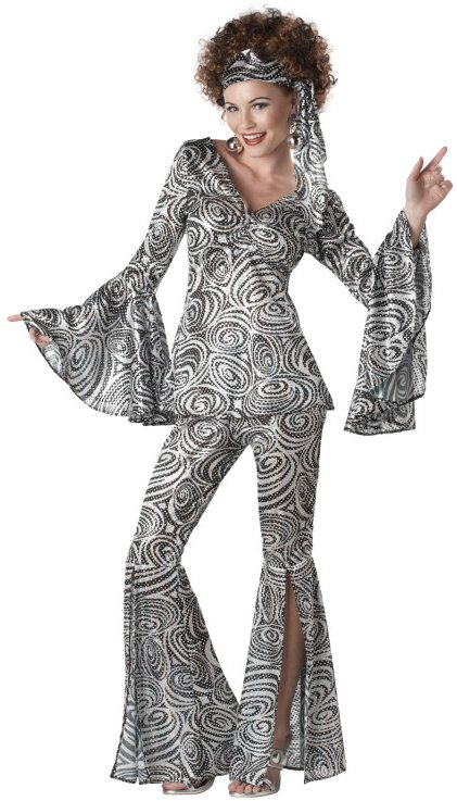 Sexy Womens 70s Disco Party Outfit Halloween Costume | eBay