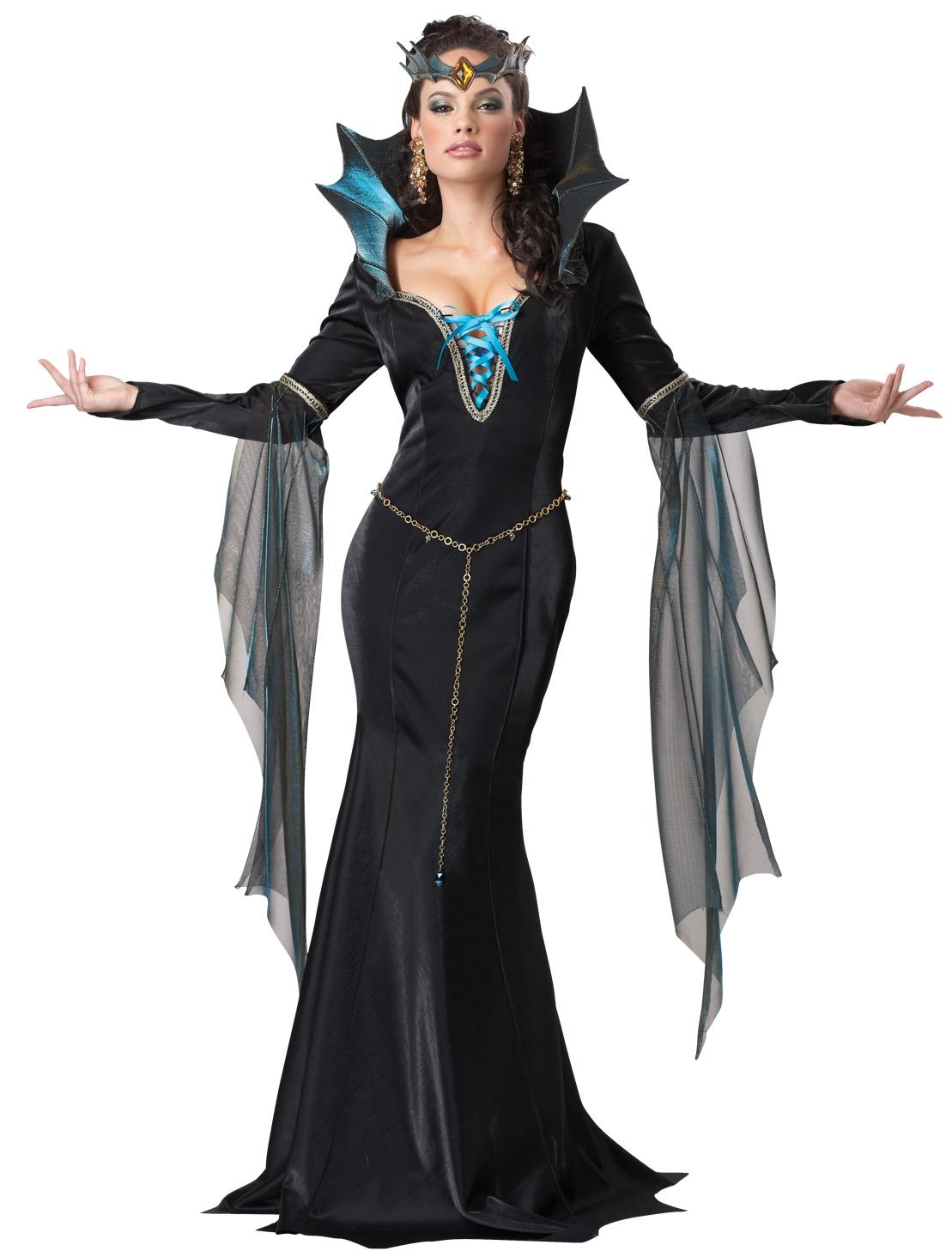 Sexy Womens Evil Sorceress Dark Gothic Queen Halloween ...