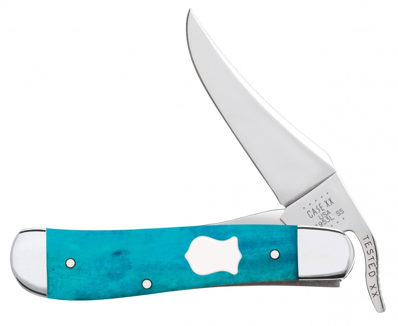 Case XX Smooth Caribbean Blue Bone Russlock Stainless Pocket Knife