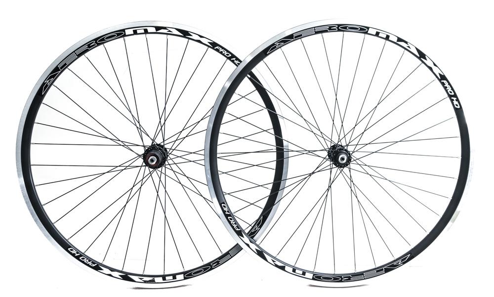 AEROMAX 700c Road Comp Black Road Bike Wheelset Clincher Shimano//SRAM 7-10s NEW
