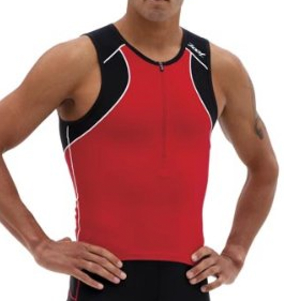 Details about ZOOT ENDURANCE Men s Triathlon Tank Sm Cycling Sleeveless  Jersey Red Black NEW 33f169041