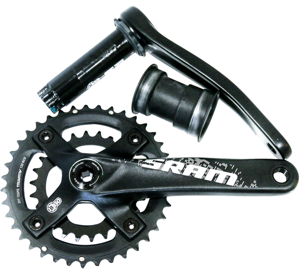 SRAM Truvativ X9 2x10 Speed BB30//PF30 MTB Bike Crankset 38//24T 170mm Double NEW