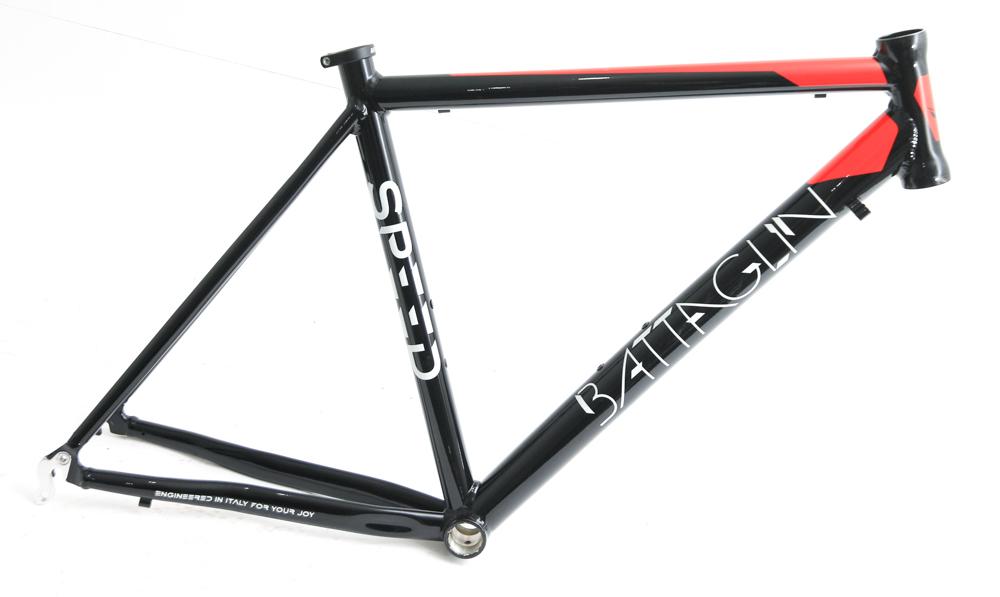 Battaglin Speed 700c MD 51cm Aluminum Road Bike Frame Black White NEW