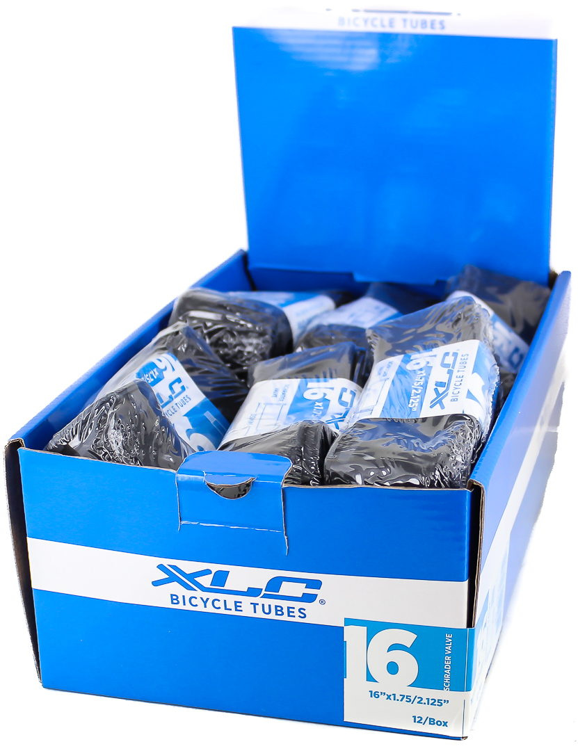 "LOT OF 24 XLC 16/"" x 1.75 2.125/"" 35mm Schrader Valve Bicycle Inner Tubes NEW"