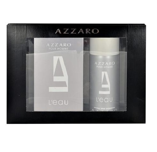 AZZARO POUR HOMME L EAU 3.4 oz EDT Spray Men Cologne+ 5.1 deodorant Gift  Set NIB 6a2d745399a