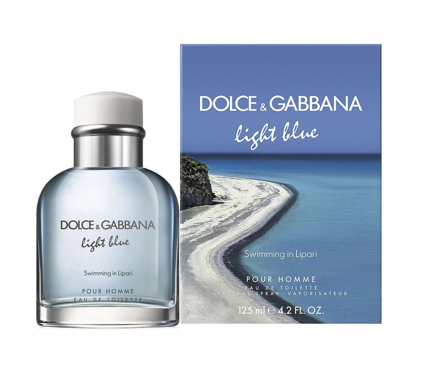 cfc4aca9a1573 Details about LIGHT BLUE Swimming In Lipari Dolce   Gabbana 4.2 oz EDT  spray Men Cologne 125ml