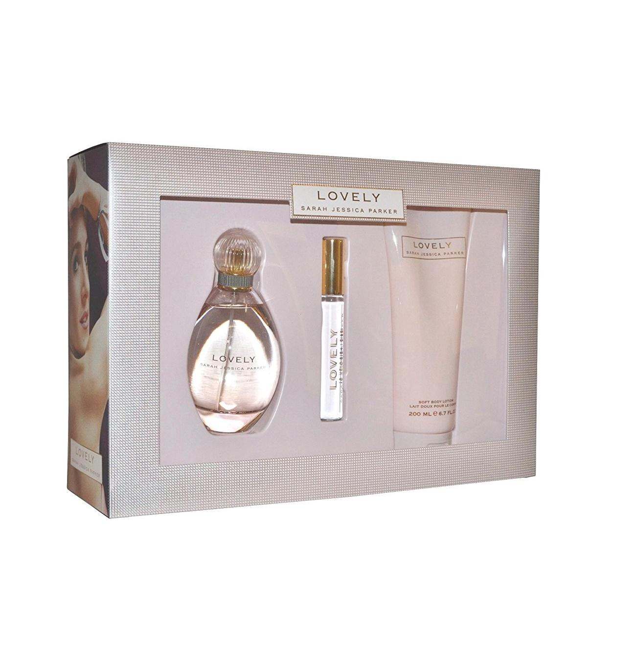 LOVELY Sarah Jessica Parker 34 Oz EDP 67 Lotion Rollerball Women Perfume SET