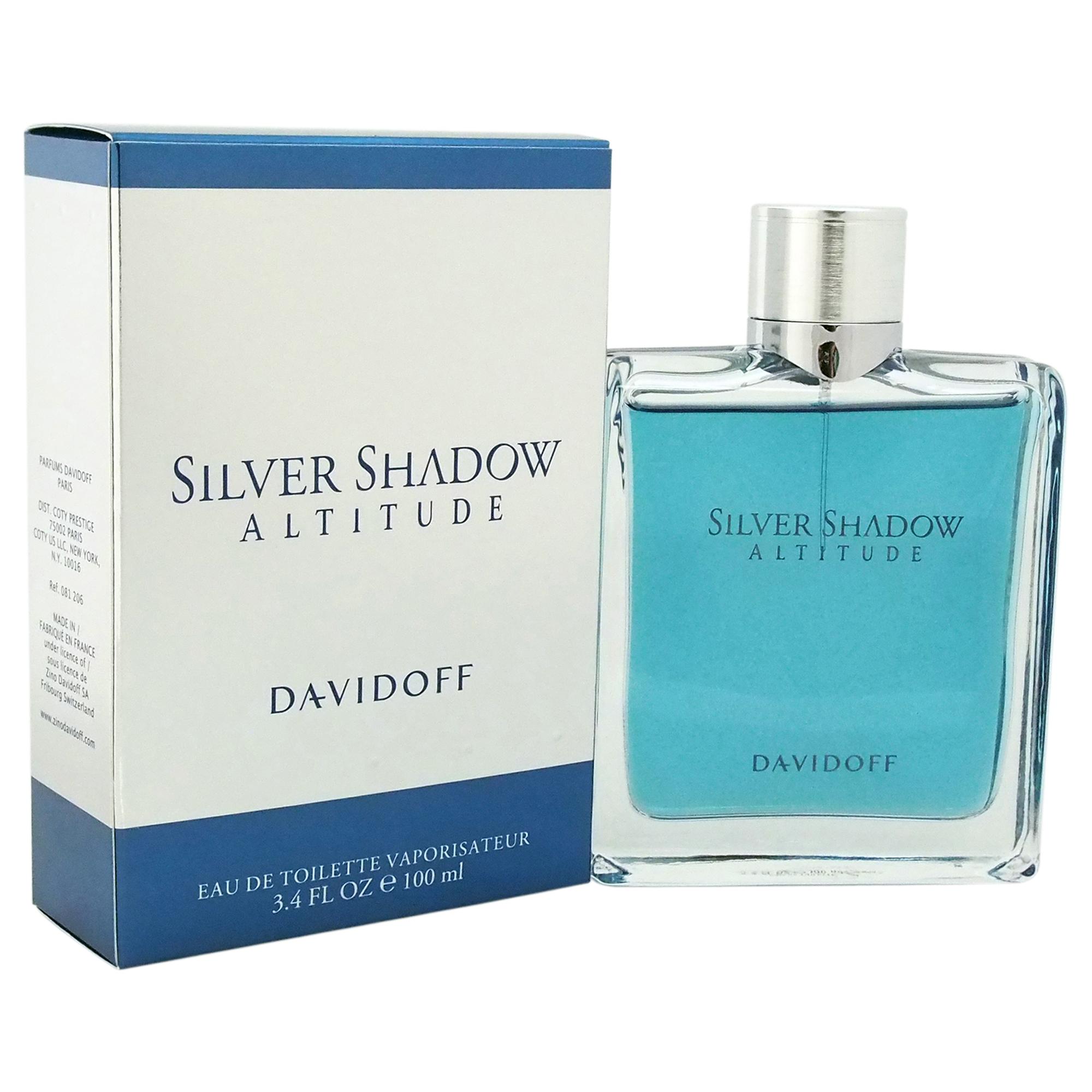 Silver Shadow Altitude By Davidoff 34 Oz Edt Mens Spray Cologne 100
