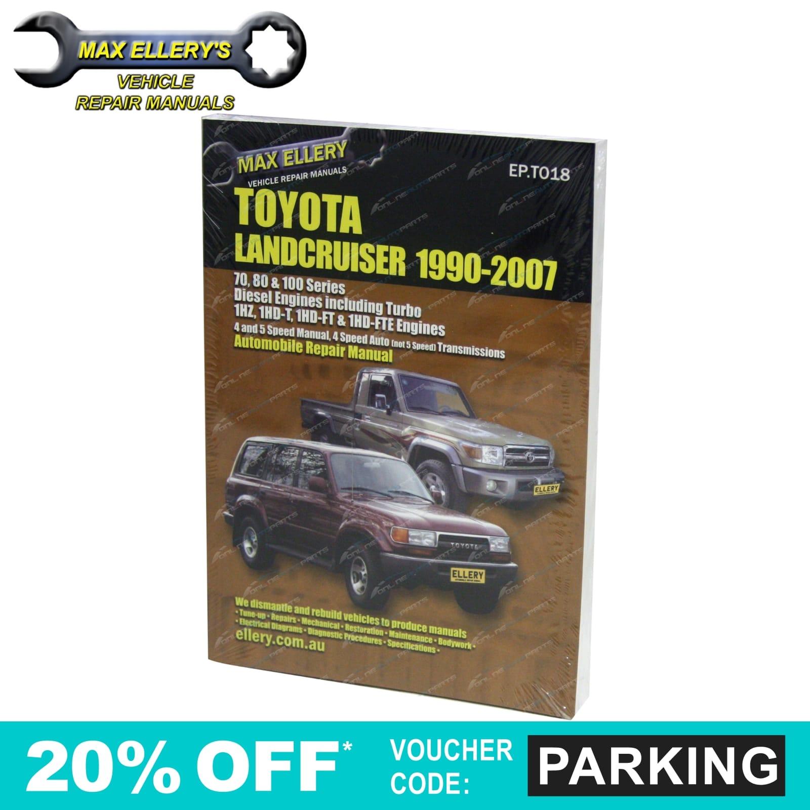 workshop repair manual suits landcruiser 80 100 series diesel 1hz rh ebay com toyota landcruiser 100 series workshop manual pdf Lifted Land Cruiser 100 Series