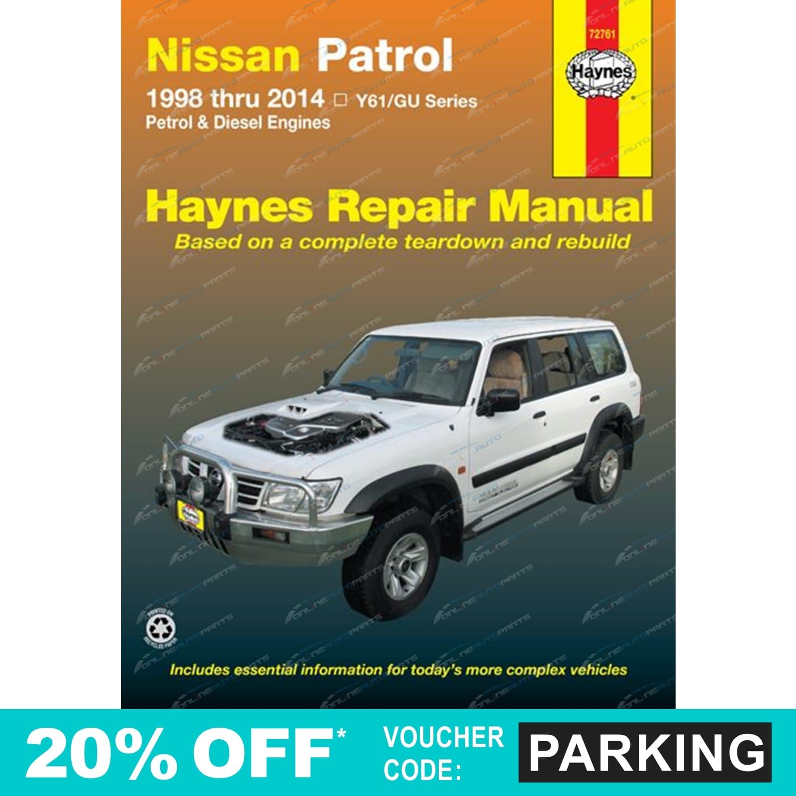 haynes car repair manual book for nissan patrol gu y61 1997 2014 rh ebay com electronic service manual nissan patrol y61 pdf electronic service manual nissan patrol y61 pdf