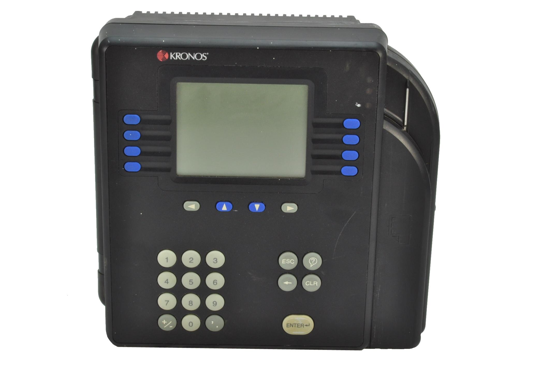 Kronos 480f Time Clock For Sale: Kronos 8602000 System 4500 Ethernet Time Clock