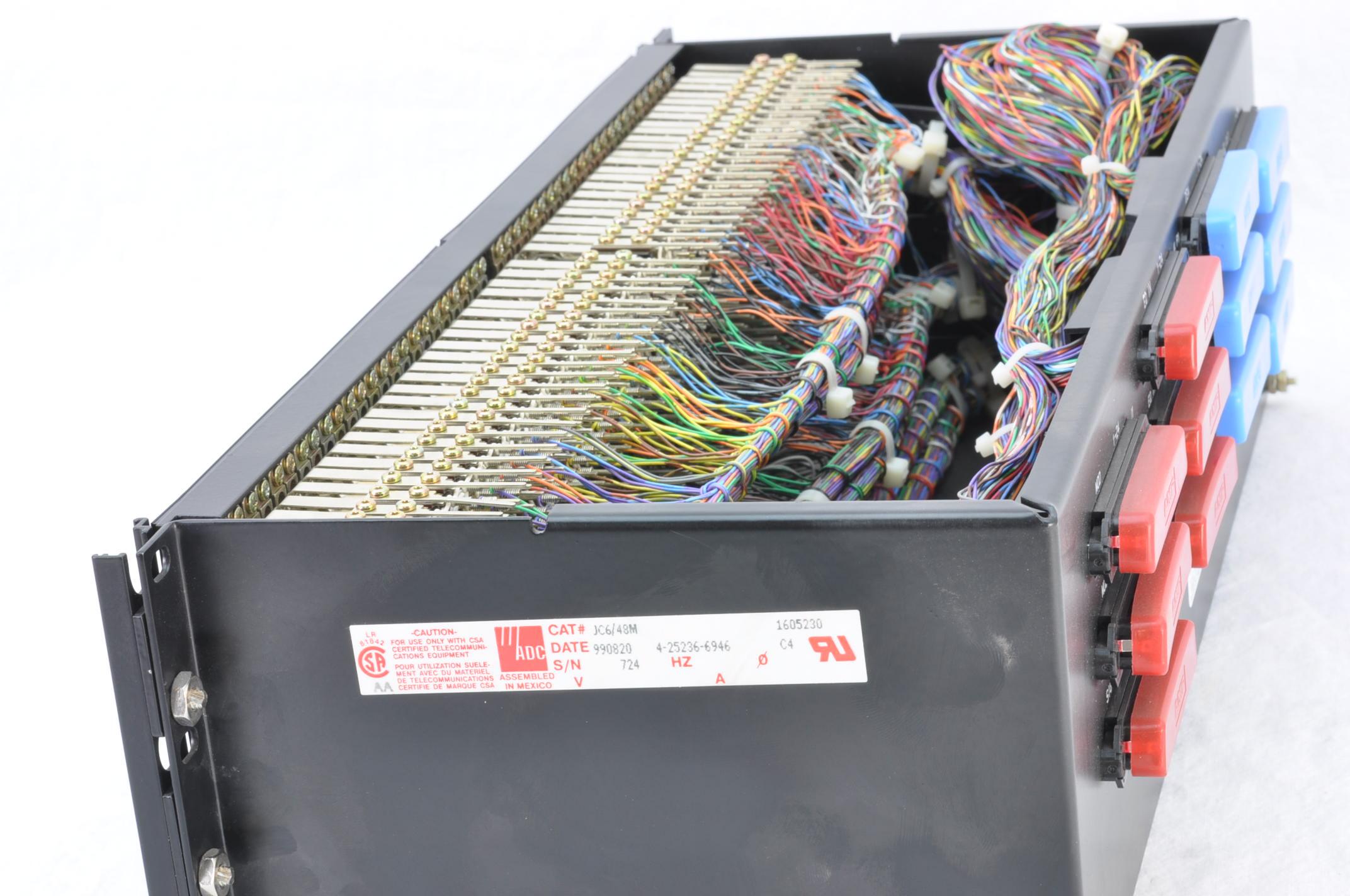 adc jc6/48m 6-wire 48-circuit bantam connectorized ... output jack wiring bantam jack wiring #10