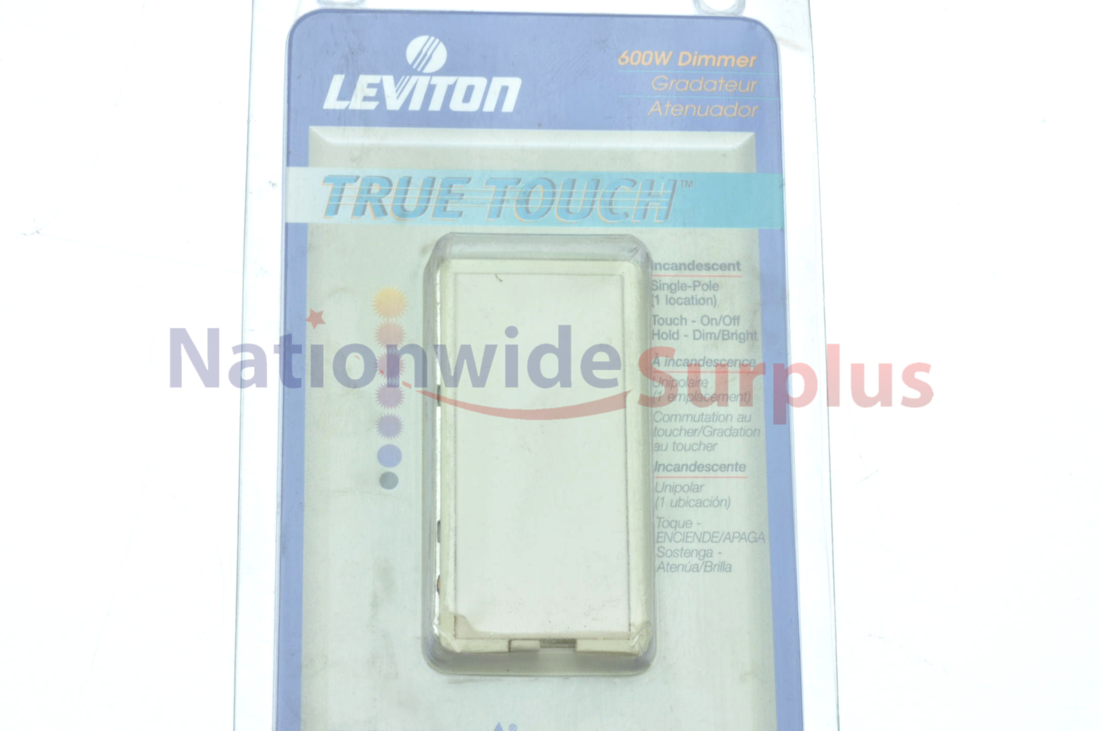 Leviton 600w Decora True Touch Light Dimmer Switch Ivory Single Pole Toggle