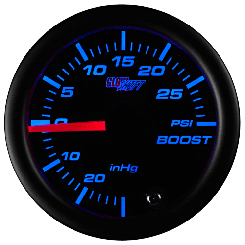 52mm GLOWSHIFT TINTED 7 COLOR LED TURBO BOOST / VACUUM