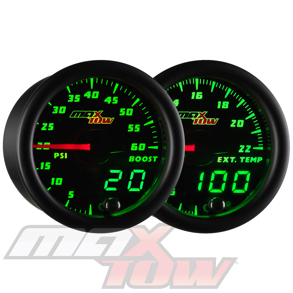 52mm GlowShift 10 Color Digital 2200 F Pyrometer Exhaust Gas Temperature EGT Gauge Kit 2-1//16 Tinted Lens for Car /& Truck Includes Type K Probe Multi-Color LED Display