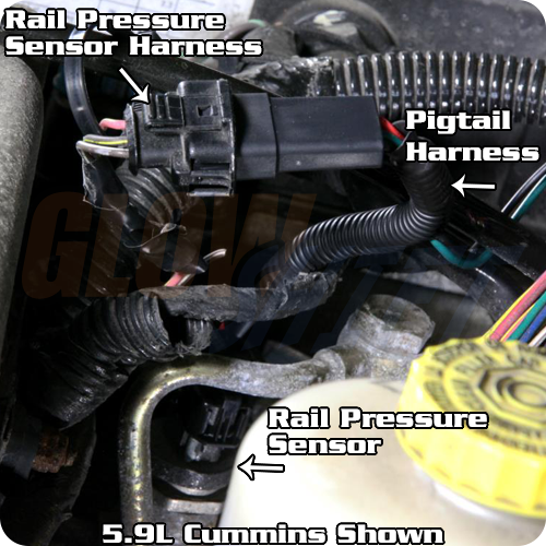 16_ebay_rail_pressure_pigtail_install_gallery glowshift fuel rail pressure psi gauge pigtail wiring harness gs glowshift wiring harness at reclaimingppi.co
