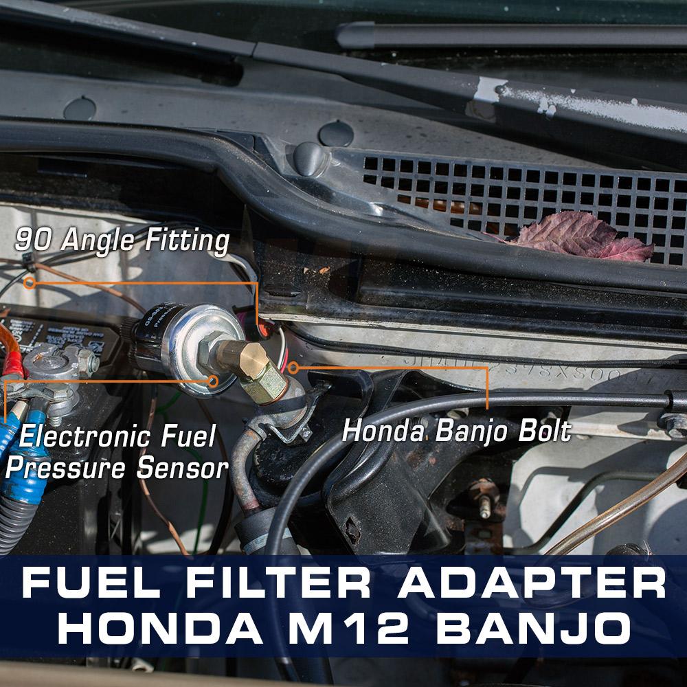 91 civic fuel filter honda fuel pressure gauge 12mm banjo bolt to 1 8npt