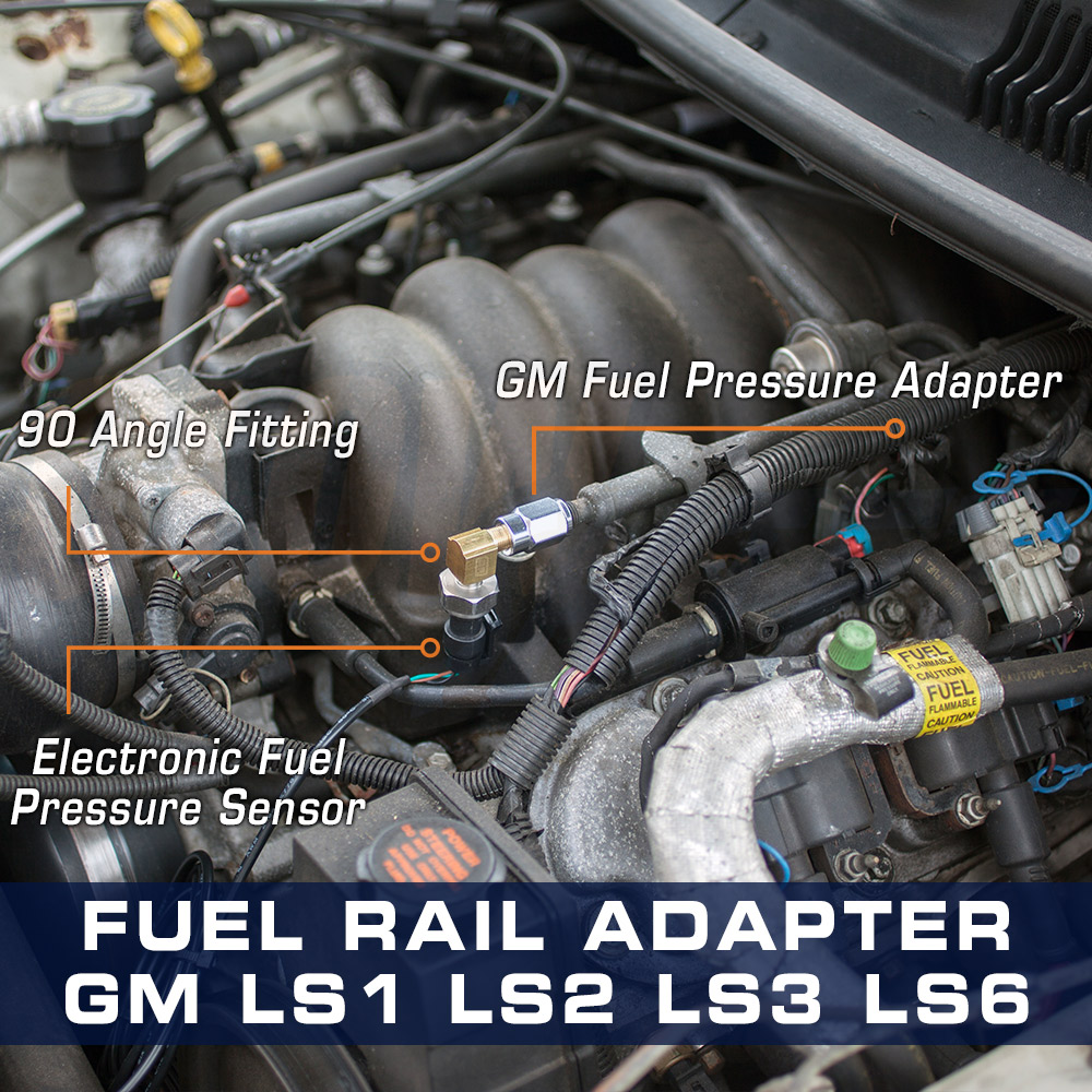 Ls2 Fuel Line Adapter Wire Center Tippmann 98 Custom Pro Platinum Series Rt Gun Parts V080616 Diagram Glowshift Chevy Ls1 Ls3 Ls6 Engine Rail For Rh Ebay Com 99 Ford Ranger Supply Dodge Ram 1500 Kit