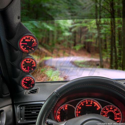 GlowShift 02-07 Subaru Impreza WRX /& STI Gray Triple Gauge Pillar Pod
