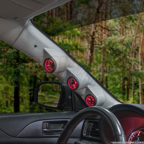 GlowShift Black Triple Pillar Gauge Pod for 2002-2007 Subaru Impreza WRX STI 2-1//16 ABS Plastic 52mm 3 Gauges to Vehicles A-Pillar Mounts