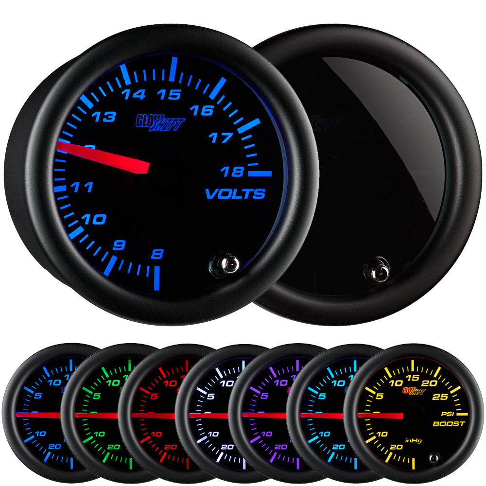 "GlowShift 3 3//4/"" Black 7 Color Speedometer Gauge 0-140 MPH w Digital Readout"