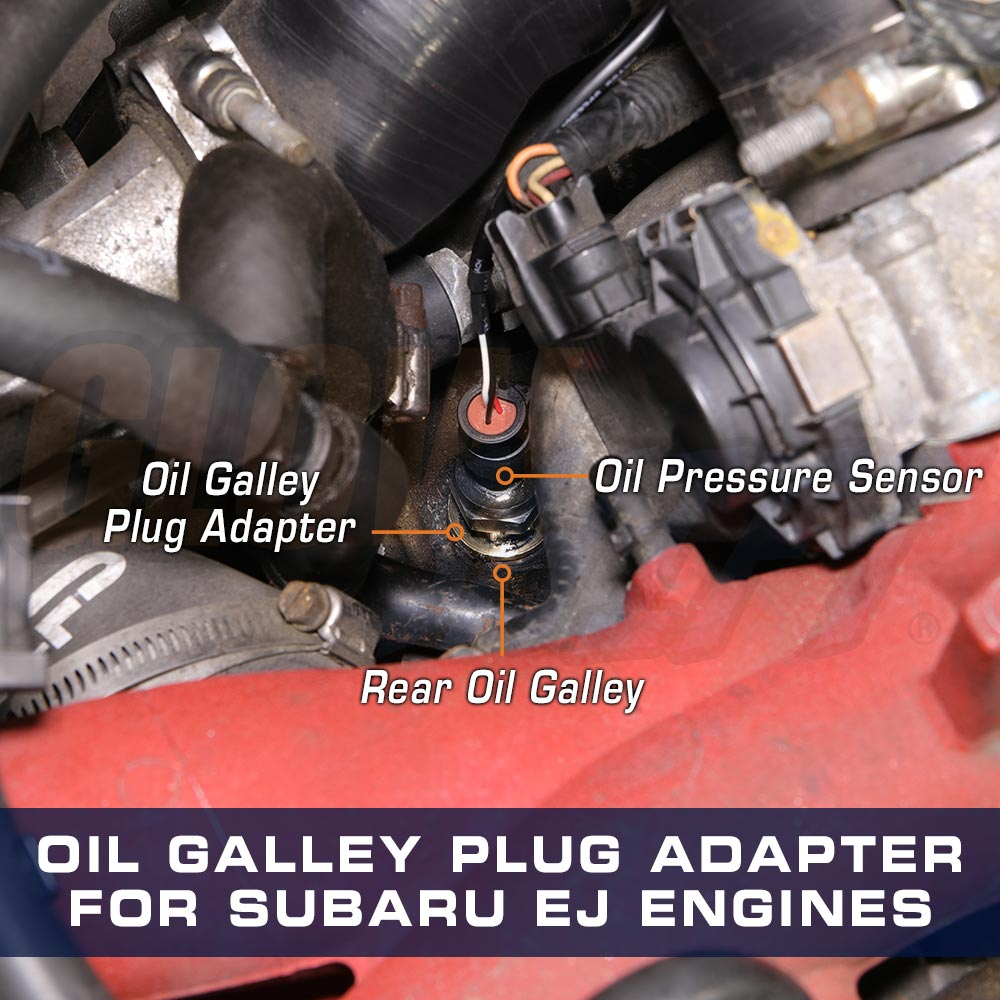 Details about GlowShift Oil Galley Plug Sensor Thread Adapter for Subaru EJ  Engines