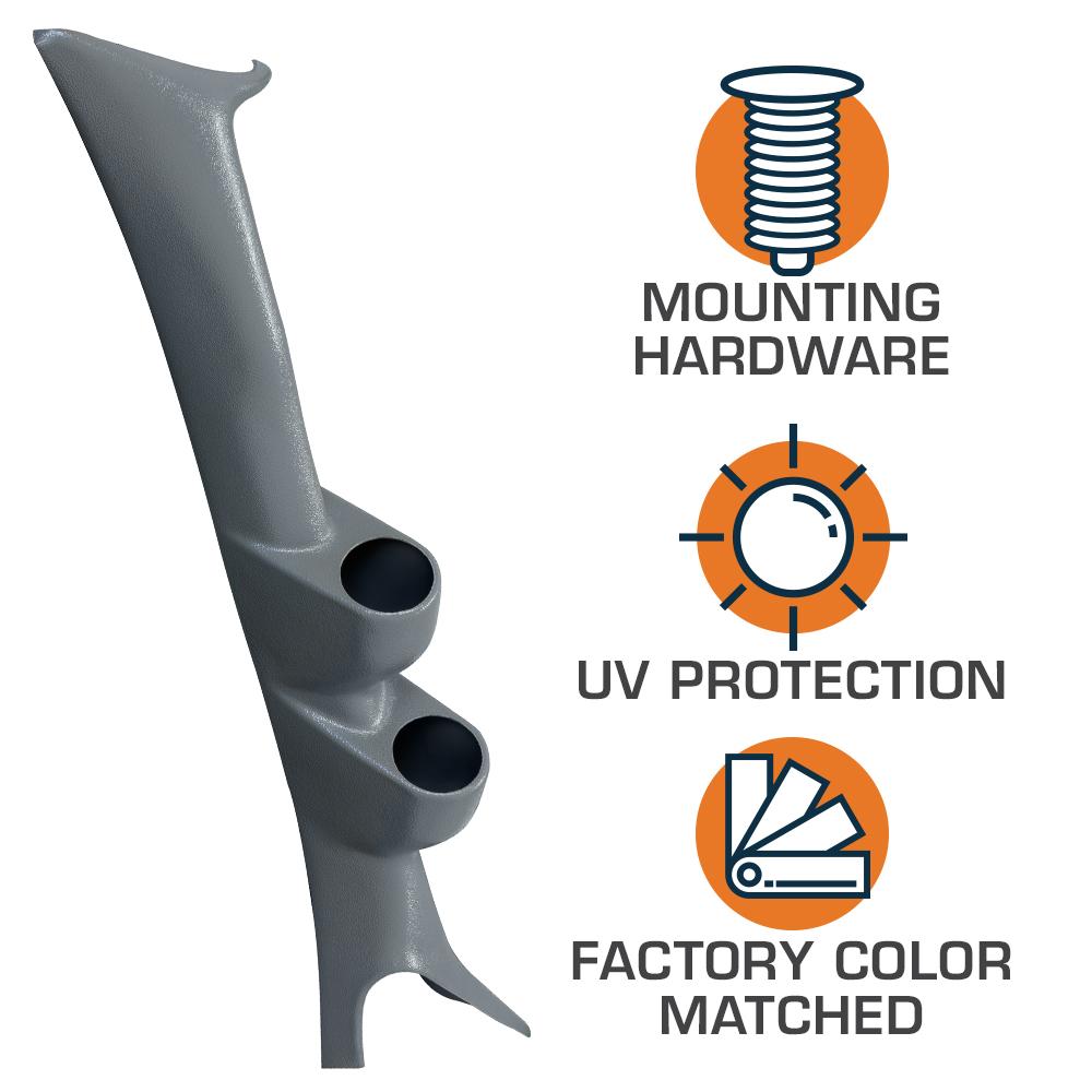 Glowshift Gray Dual Pod W Boost  U0026 Pyrometer Egt Gauges For