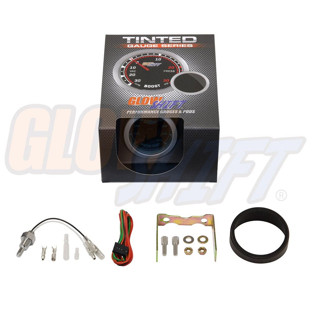2 1  16 U0026quot  Glowshift Tinted Coolant Water Temperature Gauge