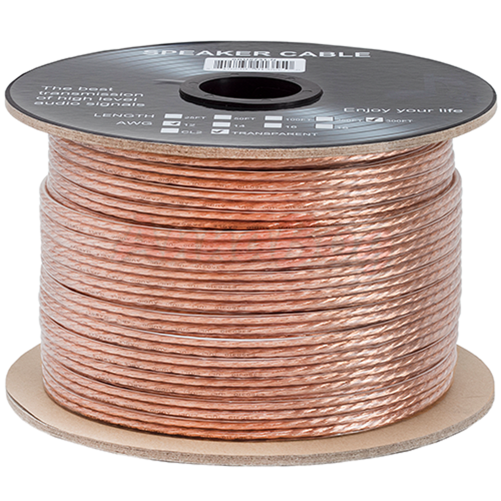 300 FT Feet True 12 GA Gauge AWG Speaker Wire Cable Car Home Audio ...