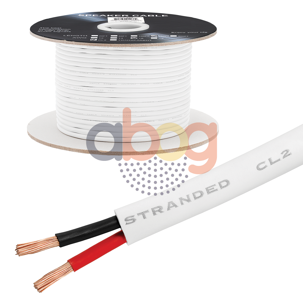 Speaker Wire Gauge >> Details About 250ft Speaker Cable 16awg Wire Cl2 In Wall Bulk 16 2 Gauge 2 Conductor Audio