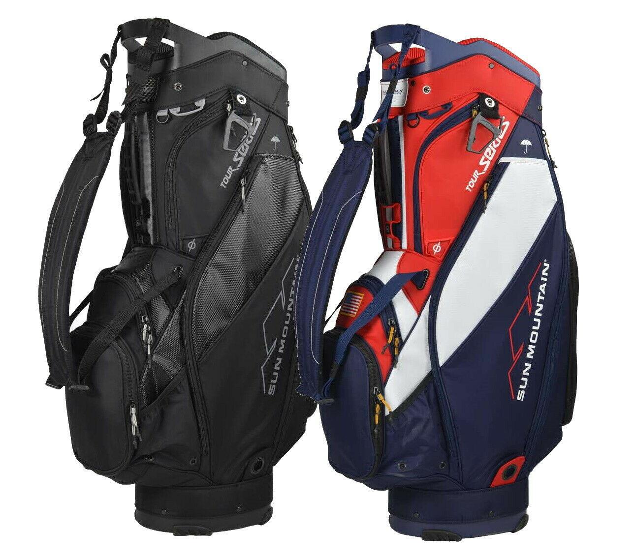"""Sun Mountain 2020 Tour Series Cart Golf Bag 11"""" 4-Way Top Ch"""