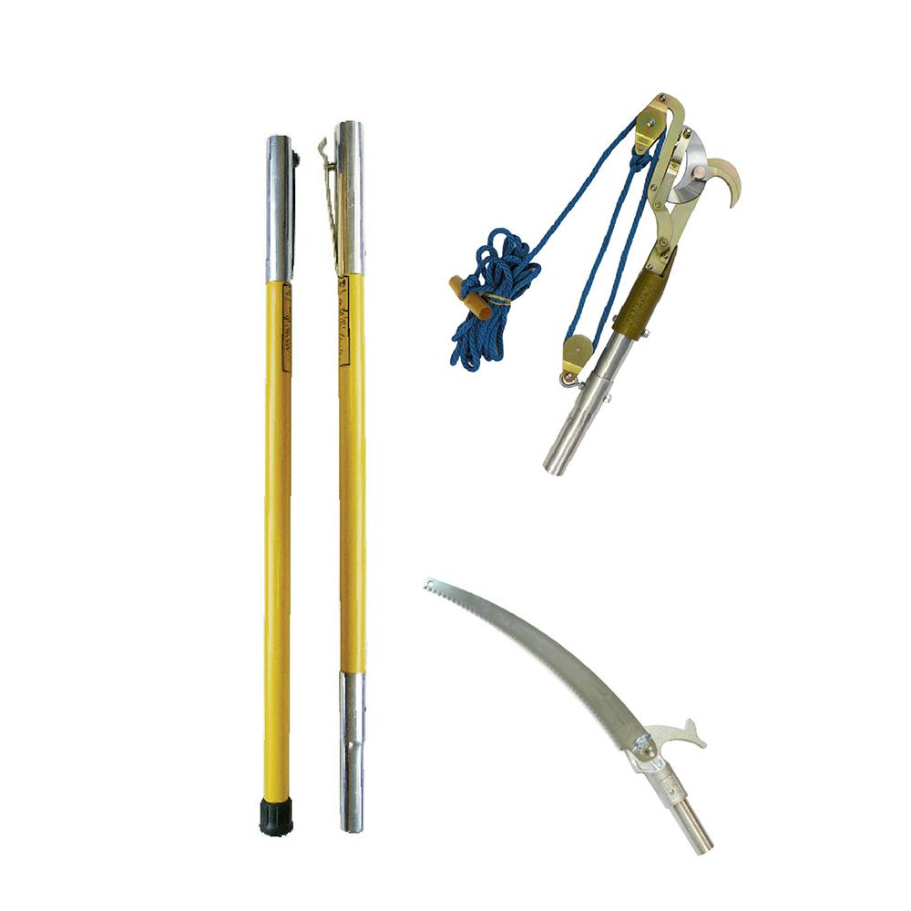 """12/' Pole Pruner by Jameson w//B Lite Fiberglass Poles,Pruner Head Opens 1 3//4/"""""""