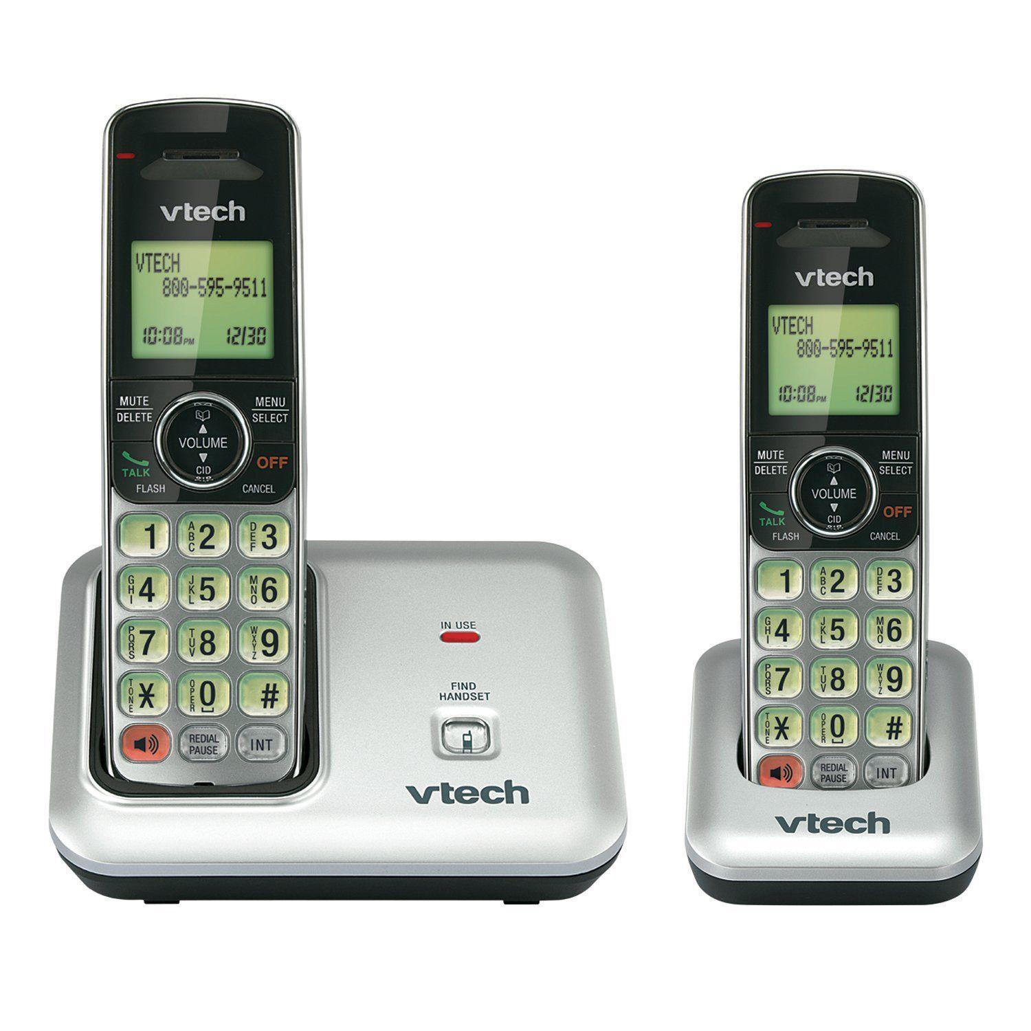 VTech CSR6919-2 DECT 6.0 Cordless Phone with Caller ID 2 Handsets Silver//Black