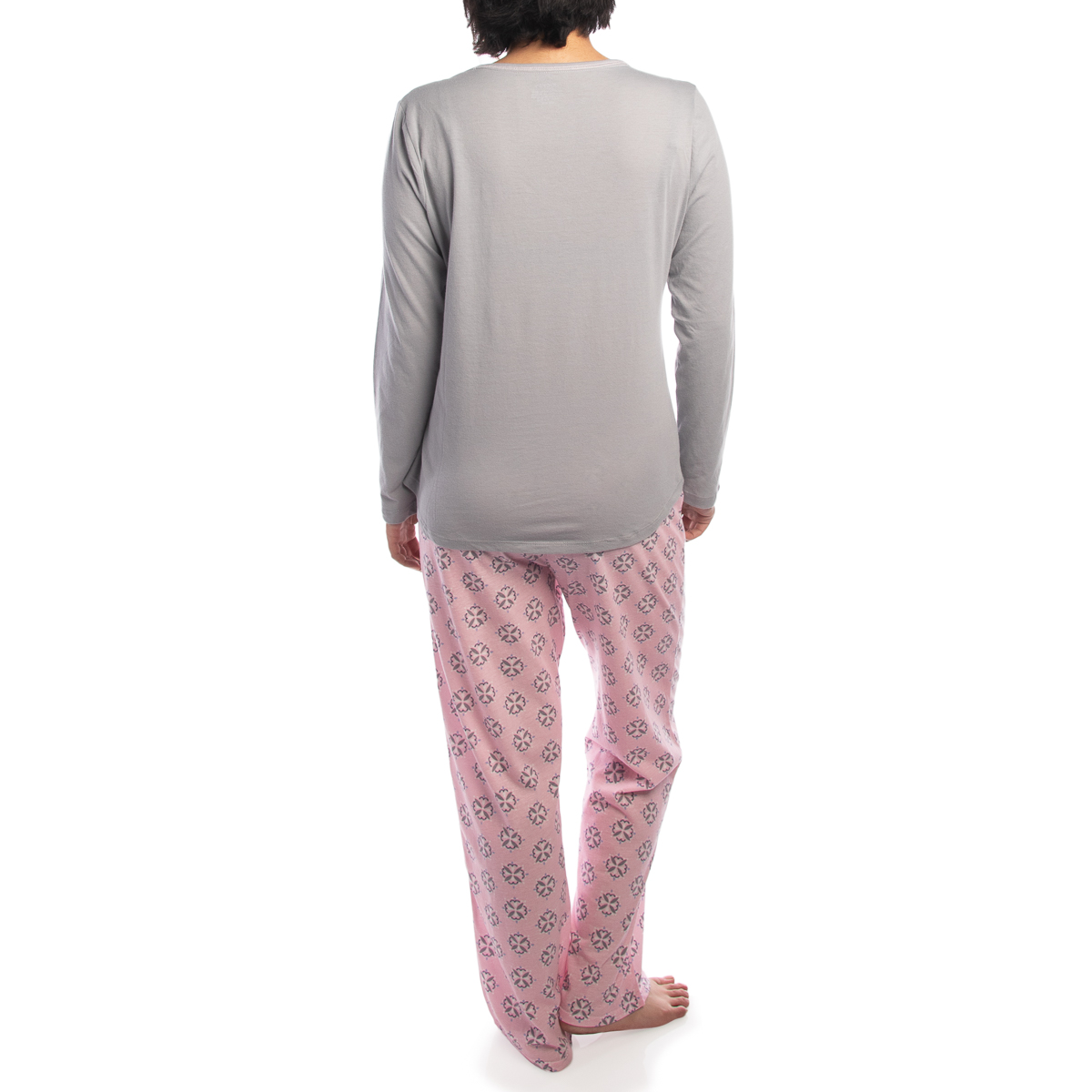 2-Piece-Jockey-Cotton-Pajamas-For-Women-Set-Long-Sleeve-Top-Bottom-PJs-Sleepwear thumbnail 8